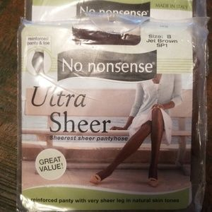 Accessories - 4 pkgsNo nonsense ultra sheer jet brown pantyhose